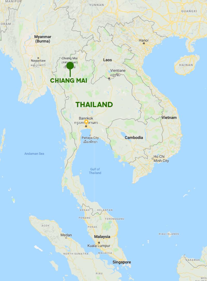 chiang mai Thailand map